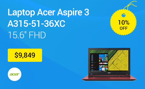 Laptop Acer Aspire 3 A315-51-36XC 15.6 FHD