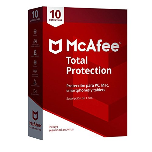MCAFEE TOTAL PROTECTION 10 DEVICE MTP00LNRXRP1