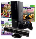 XBOX360 E 4GB W/KINECT HVB14 K ADVENTURES + K SPORTS + FH N7V-00078