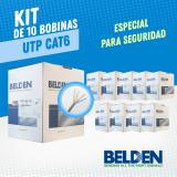 KIT DE 10 BOBINAS DE CABLE UTP CAT6 BELDEN 5663U6 008U1000 GRIS 305MTS CMR DISEA