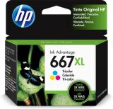 Tinta HP Original Advantage 667XL Alto Rendimiento Tricolor 3YM80AL