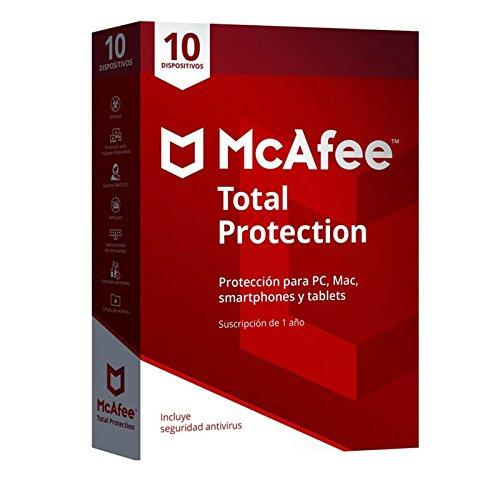 McAfee Total Protection, 10 PCs, 1 año, MTP00LNRXRP1